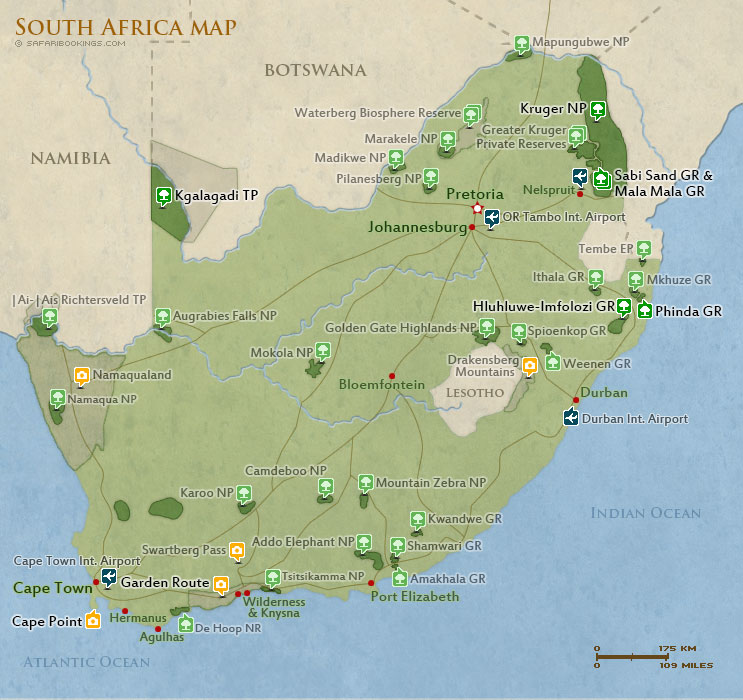 Popular Routes in South Africa
