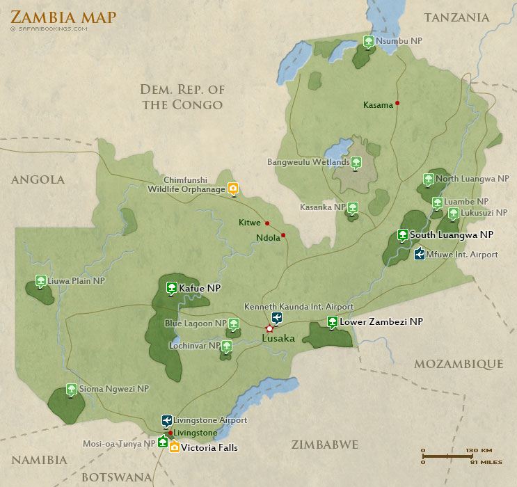 Popular Routes in Zambia