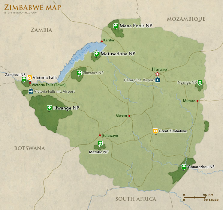 Popular Routes in Zimbabwe